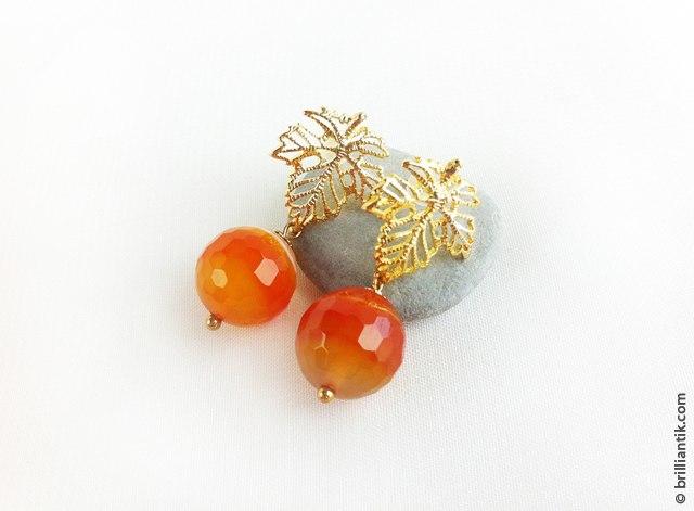 Серьги «Осенние листочки», 620 ₽